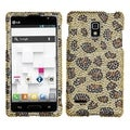 MYBAT Leopard/ Camel Diamante Protector Cover for LG P769 Optimus L9