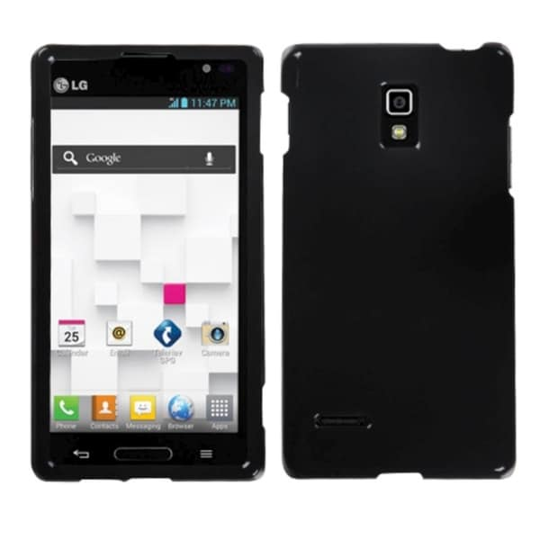 INSTEN Solid Black Phone Protector Cover for LG P769 Optimus L9