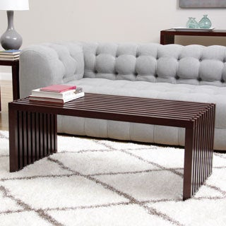 Slat Espresso Finish Coffee Table