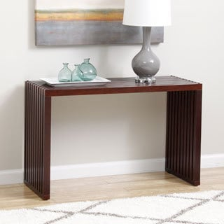 Slat Espresso Finish Sofa Table