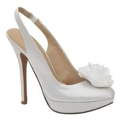 Women's Brianna Leigh Bloom White Silk Satin