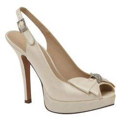 Women's Brianna Leigh Crown Ivory Silk Satin