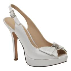 Women's Brianna Leigh Crown White Silk Satin