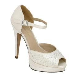 Women's Brianna Leigh Ignite Ivory Silk Satin