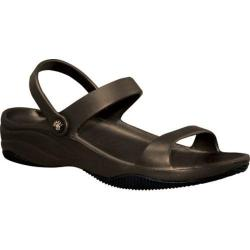 Women's Dawgs 3 Strap Sandal Dark Brown/Black