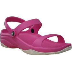 Girls' Dawgs 3 Strap Sandal Hot Pink/White