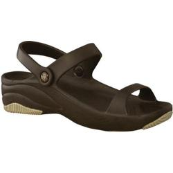 Children's Dawgs 3 Strap Sandal Dark Brown/Tan