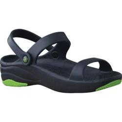 Children's Dawgs 3 Strap Sandal Navy/Lime Green