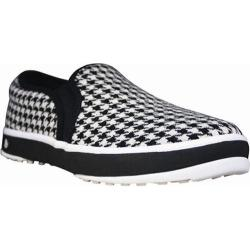 Men's Dawgs Canvas Golf Crossover Shoe Black/White Houndstooth