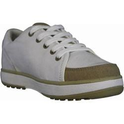 Women's Dawgs Canvas Golf Crossover Shoe White/Tan