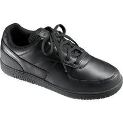 Men's Genuine Grip Footwear Slip-Resistant Athletic Black Leather