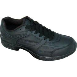Men's Genuine Grip Footwear Slip-Resistant Jogger Black Leather