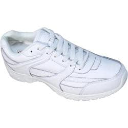 Men's Genuine Grip Footwear Slip-Resistant Jogger White Leather