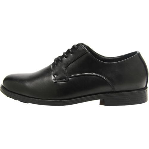 Men's Genuine Grip Footwear Slip-Resistant Oxford Dress Black Leather