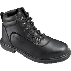 Men's Genuine Grip Footwear Slip-Resistant Steel Toe Boot Black Leather