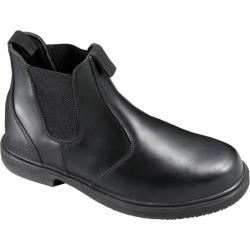 Men's Genuine Grip Footwear Slip-Resistant Twin Gore Boot Black Leather