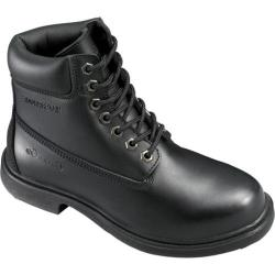 Men's Genuine Grip Footwear Slip-Resistant Waterproof Boot Black Leather
