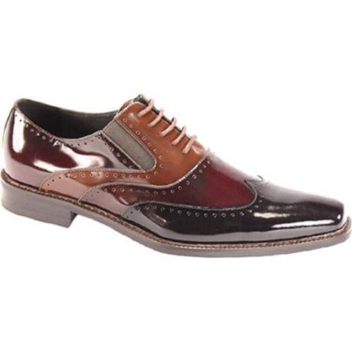 Men's Giorgio Venturi 6296 Black/Burgundy/Light Brown Polished Leather