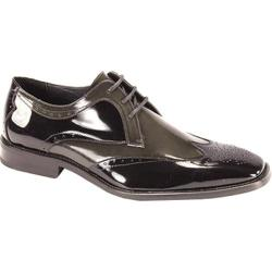 Men's Giorgio Venturi 6297 Black/Gray Polished Leather
