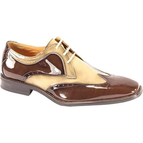 Men's Giorgio Venturi 6297 Chocolate Brown/Beige Polished Leather