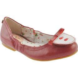 Girls' MUPS Mini Ballerina Red Leather