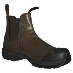 Men's Dawgs Prolite 6in Pull On Composite Toe Safety Boot Brown Waxy Buffalo Leather