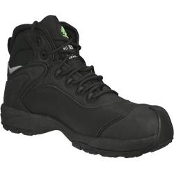 Men's Dawgs Ultralite 6in Comfort Pro Composite Toe Safety Boot Black Full Grain Leather