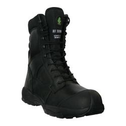 Men's Dawgs Ultralite 8in Size Zip Comfort Pro Composite Toe Sa Black Full Grain Leather