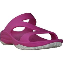Women's Dawgs Z Sandal/Rubber Sole Hot Pink/White