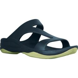 Women's Dawgs Z Sandal/Rubber Sole Navy/Lime Green