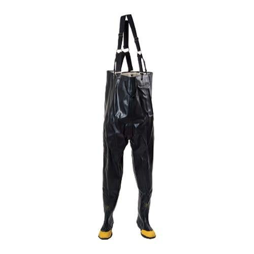 Men's Diamond Rubber Products Plain Toe Chest High Waders 140 Black