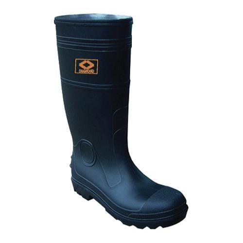 Men's Diamond Rubber Products Steel Toe Knee Boot 161 Black