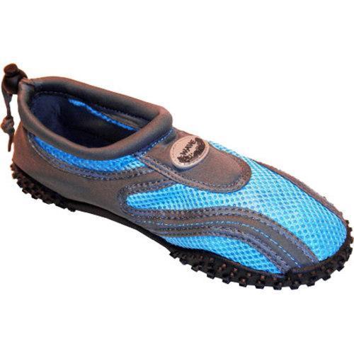Women's Easy USA Water Shoes/Aqua Socks (2 Pairs) Aqua Blue/Grey