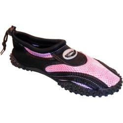 Women's Easy USA Water Shoes/Aqua Socks (2 Pairs) Pink/Black