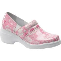 Women's Nurse Mates Nelly White/Pink Full Grain Leather