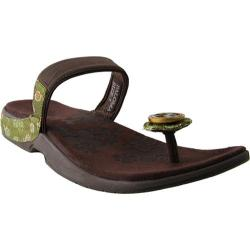 Women's Okobos Paloma Chocolate/Olive Ribbon