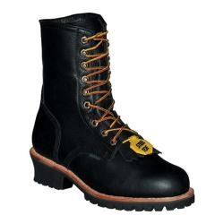 Men's Pro Line Logger Boot 10in Steel Toe Black Full Grain Leather