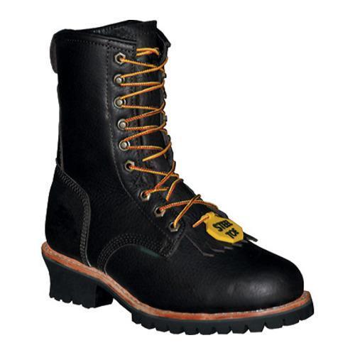 Men's Pro Line Logger Boot 10in Steel Toe Brown Full Grain Leather