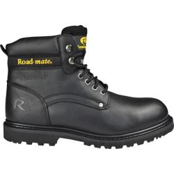 Men's Roadmate Boot Co. 647 6in Padded Collar Work Boot Steel Toe Black Oil Full Grain Leather