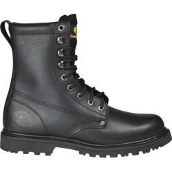 Men's Roadmate Boot Co. 810 8in Work Boot Steel Toe Black Oil Full Grain Leather