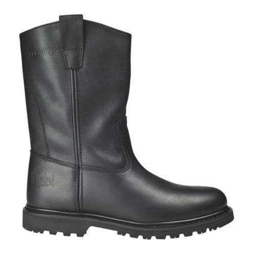 Men's Roadmate Boot Co. 833H 10in Flexible Wellington Black Oil Full Grain Leather