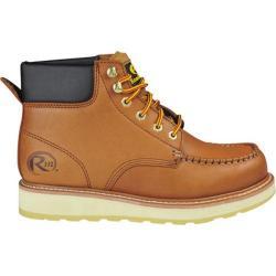 Men's Roadmate Boot Co. 955 6in Padded Collar Moc Toe Work Boot Sundance Oil Full Grain Leather