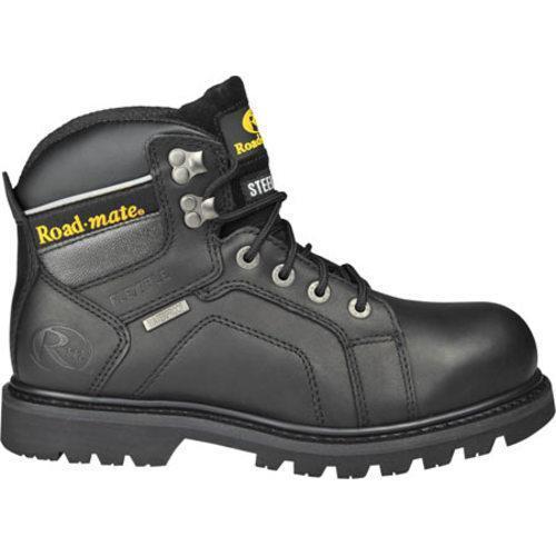 Men's Roadmate Boot Co. Gravel 6in Steel Toe Shock Absorbing Work Boot Black Oil Full Grain Leather