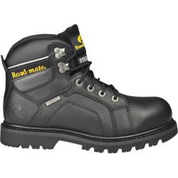 Men's Roadmate Boot Co. Gravel 6in Steel Toe Shock Absorbing Work Boot Black Oil Full Grain Leather