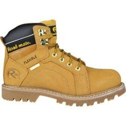 Men's Roadmate Boot Co. Gravel 6in Steel Toe Shock Absorbing Work Boot Honey Nubuck