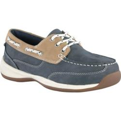 Women's Rockport Works RK670 Navy Blue/Tan Crazy Horse Leather