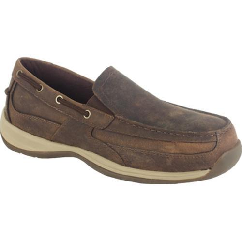Men's Rockport Works RK6737 Brown Crazy Horse Leather