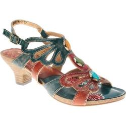 Women's Spring Step Absynthe Blue Leather