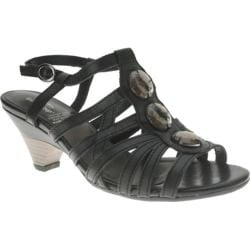 Women's Spring Step Alfie Black Leather