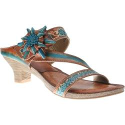 Women's Spring Step Amethyst Camel Leather
